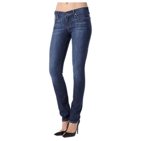 7 For All Mankind Roxanne Mid-Rise Skinny Jeans 26